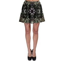 Fractal Design Pattern Texture Skater Skirt