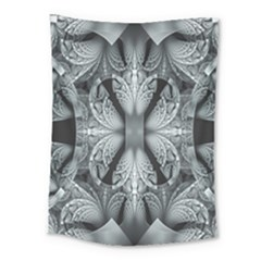 Fractal Blue Lace Texture Pattern Medium Tapestry