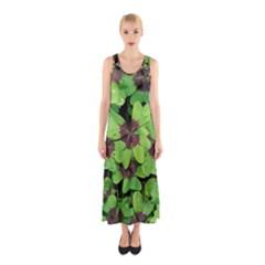 Luck Klee Lucky Clover Vierblattrig Sleeveless Maxi Dress