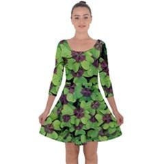 Luck Klee Lucky Clover Vierblattrig Quarter Sleeve Skater Dress