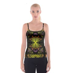 Fractal Multi Color Geometry Spaghetti Strap Top