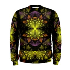 Fractal Multi Color Geometry Men s Sweatshirt