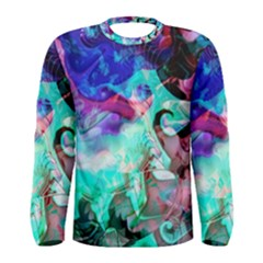 Background Art Abstract Watercolor Men s Long Sleeve Tee