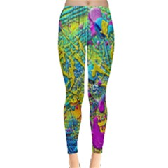 Background Art Abstract Watercolor Leggings