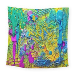 Background Art Abstract Watercolor Square Tapestry (large)