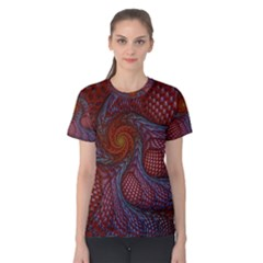 Fractal Red Fractal Art Digital Art Women s Cotton Tee