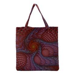 Fractal Red Fractal Art Digital Art Grocery Tote Bag