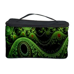 Fractal Green Gears Fantasy Cosmetic Storage Case