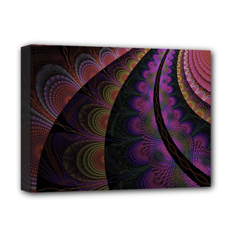 Fractal Colorful Pattern Spiral Deluxe Canvas 16  X 12