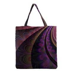 Fractal Colorful Pattern Spiral Grocery Tote Bag