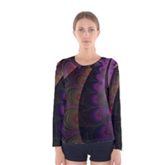 Fractal Colorful Pattern Spiral Women s Long Sleeve Tee