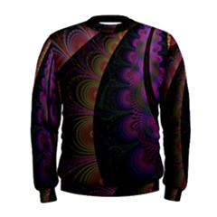 Fractal Colorful Pattern Spiral Men s Sweatshirt