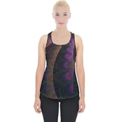 Fractal Colorful Pattern Spiral Piece Up Tank Top