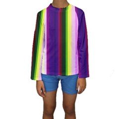 Abstract Background Pattern Textile 2 Kids  Long Sleeve Swimwear