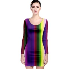 Abstract Background Pattern Textile 2 Long Sleeve Bodycon Dress