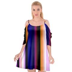 Abstract Background Pattern Textile 3 Cutout Spaghetti Strap Chiffon Dress