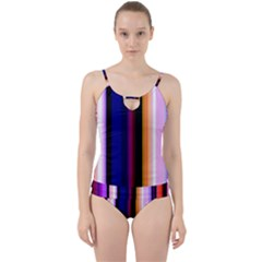 Abstract Background Pattern Textile 3 Cut Out Top Tankini Set