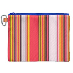 Abstract Background Pattern Textile Canvas Cosmetic Bag (xxl)