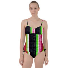 Abstract Background Pattern Textile Sweetheart Tankini Set