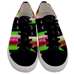 Abstract Background Pattern Textile Men s Low Top Canvas Sneakers