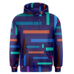 Lines Line Background Abstract Men s Pullover Hoodie
