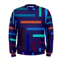 Lines Line Background Abstract Men s Sweatshirt
