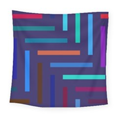 Lines Line Background Abstract Square Tapestry (large)