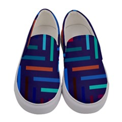 Lines Line Background Abstract Women s Canvas Slip Ons