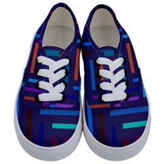 Lines Line Background Abstract Kids  Classic Low Top Sneakers