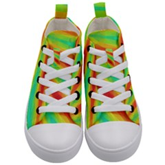 Graphic Kaleidoscope Geometric Kid s Mid Top Canvas Sneakers