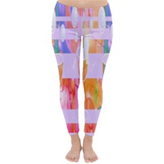 Watercolour Paint Dripping Ink Classic Winter Leggings