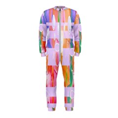 Watercolour Paint Dripping Ink Onepiece Jumpsuit (kids)
