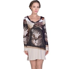 Cat Kitten Cute Pet Blanket Sweet Long Sleeve Nightdress