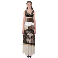 Cat Kitten Cute Pet Blanket Sweet Empire Waist Maxi Dress