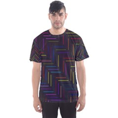 Lines Line Background Men s Sports Mesh Tee
