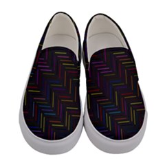 Lines Line Background Women s Canvas Slip Ons