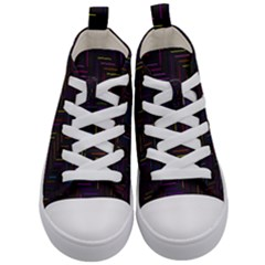 Lines Line Background Kid s Mid Top Canvas Sneakers