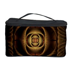 Fractal Copper Amber Abstract Cosmetic Storage Case