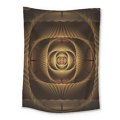 Fractal Copper Amber Abstract Medium Tapestry