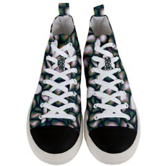 Fuzzy Abstract Art Urban Fragments Men s Mid Top Canvas Sneakers
