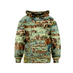 Medeival Ancient Map Fortress Kids  Pullover Hoodie