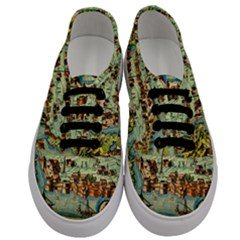 Medeival Ancient Map Fortress Men s Classic Low Top Sneakers