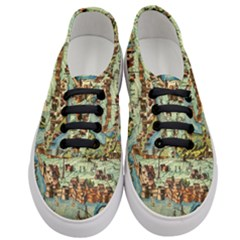 Medeival Ancient Map Fortress Women s Classic Low Top Sneakers