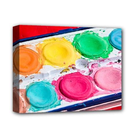 Palette Brush Paint Box Color Deluxe Canvas 14  X 11