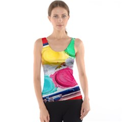 Palette Brush Paint Box Color Tank Top