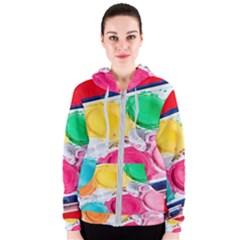 Palette Brush Paint Box Color Women s Zipper Hoodie