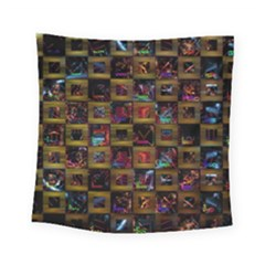 Kaleidoscope Pattern Abstract Art Square Tapestry (small)