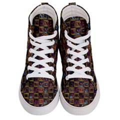 Kaleidoscope Pattern Abstract Art Men s Hi Top Skate Sneakers