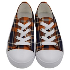 Abstract Background Pattern Textile 6 Kids  Low Top Canvas Sneakers
