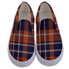 Abstract Background Pattern Textile 6 Kids  Canvas Slip Ons